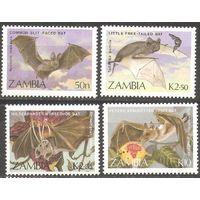 Замбия 1989 Фауна Летучие мыши 4 марки