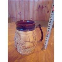 Чашка глиняная для пива
