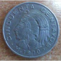 50 сентаво 1970 год Мексика