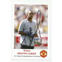 Tim Howard(Manchester United, Англия). Живой автограф на фотографии.
