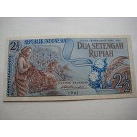 ИНДОНЕЗИЯ   2 1/2 РУПИИ 1961 ГОД UNC