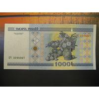 1000 рублей ( выпуск 2000 ), серия БЧ, UNC