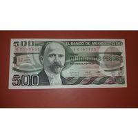 Банкнота 500 песо Мексика 1984