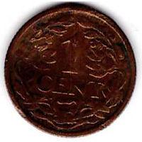Нидерланды 1 цент 1916 _km#152 Королева Вильгельмина(1890-1948) - РАСПРОДАЖА с 1 р!