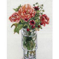 Набор для вышивки крестом. Fujico (Фуджико) 636 Япония (мулине КОСМО!) Розы Умило. Оригинал