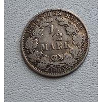 "Германия 1/2 марки, 1905 ""A"" - Берлин  7-10-3"