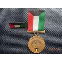 Кувейт. Медаль с колодкой в коробке за освобождение Кувейта 1991г.