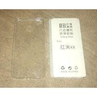 Чехол для Xiaomi Redmi 4X (силиконовый, прозрачный, ультратонкий)
