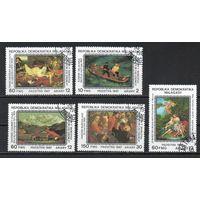 Живопись из Пушкинского музея в Москве Мадагаскар 1987 год серия из  5 марок