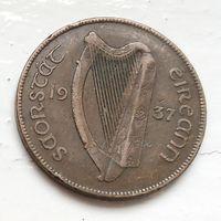 Ирландия 1 пенни, 1937 4-3-6