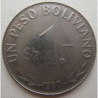 Боливия 1 песо боливиано 1980 г.