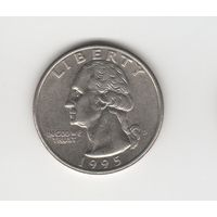 25 центов (квотер) США 1995 D Лот 4028