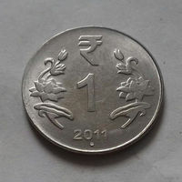 1 рупия, Индия 2011 г., точка, б/з
