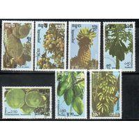 Плоды Кампучия 1988 год серия из 7 марок
