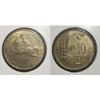 Литва - 10 центов 1925 UNC