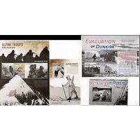 Первая мировая война Либерия 2015 год 2 малых листа и 2 блока (М)