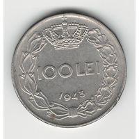 Румыния 100 лей 1943 года
