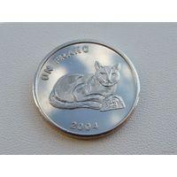 """Конго. 1 франк 2004 год KM#174  """"Животные - Золотая кошка"""" Редкая!!!"""
