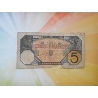 Французкая западная Африка 5франков 1929г. НЕЧАСТАЯ