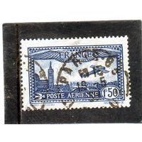 Франция.Mi:FR 255. Самолет над Марселем. Серия: Воздушная почта.1930,
