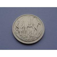 Эфиопия. 10 сантимов 1977 год  КМ#45