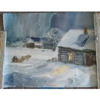 Лихоненко , зима деревня