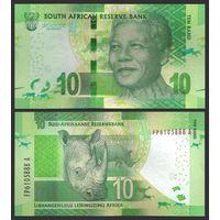 ЮАР 10 рандов образца 2015 года UNC p138b