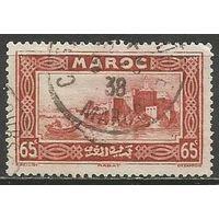 Французское Марокко. Город Рабат. 1933г. Mi#105.