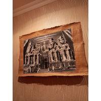 Папирус чёрно белых тонах блеском Египта интерьер