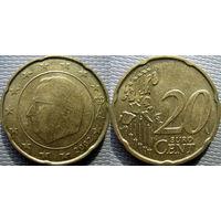 Бельгия, 20 евроцентов 2002 года