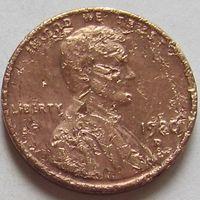 1 цент 1980 D США