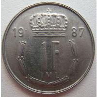 Люксембург 1 франк 1987 г. (d)