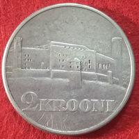 2 кроны 1930 год Эстония, Замок Тоомпеа в Таллинне, серебро
