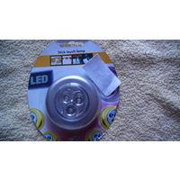 Лампа на липучке. 3Х1.5 V.  распродажа