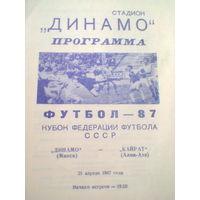 1987 год Динамо Минск--Кайрат Алма-Ата--кубок федерации