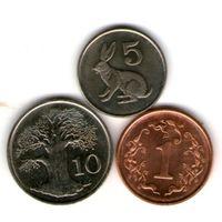 Зимбабве 3 монеты.