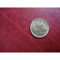 5 центов 2011 года Сингапур