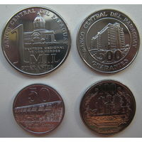Парагвай 50-100-500-1000 гуарани 2008-2012 гг. Комплект (m)