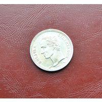 Венесуэла. 1 боливар. 1965г . Серебро 0.835