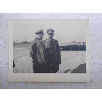 Фотография, Генрих Гиммлер с офицером германской армии, инспекция войск на Восточном фронте, 1942-43 гг.