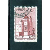 Марокко.Mi:MA 399.Дворец Махакма дю Паша.Касабланка.1955.