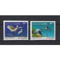 Мавритания Птицы 1986 год чистая полная беззубцовая серия из 2-х марок