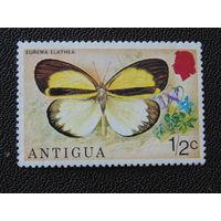 Антигуа 1975 г. Бабочка.