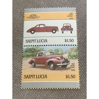 Сент-Люсия. Автомобили мира. Buick Century 1939. Марка из серии