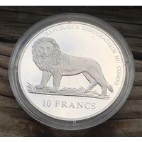 Конго. 10 франков. VIII Олимпийские игры в Париже 1924. Серебро