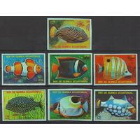 Экваториальная Гвинея Тропические рыбы 1979 год чистая полная беззубцовая серия из 7-ми марок и блока