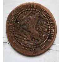 Нидерланды 1 цент, 1878 1-11-37