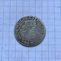 Монета 6 грошей 1665 г. (А.Т) Ян Казимир