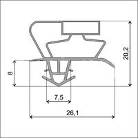 Уплотнительный профиль для дверей холодильника (profile_017)