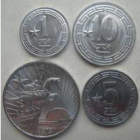 Северная Корея 1, 5, 10, 50 чон 1959-1978 гг. С одной звездой